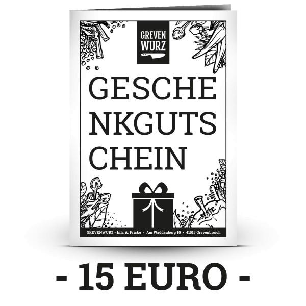 Grevenwurz Geschenkgutschein - Zum Ausdrucken (15/25/50 €)